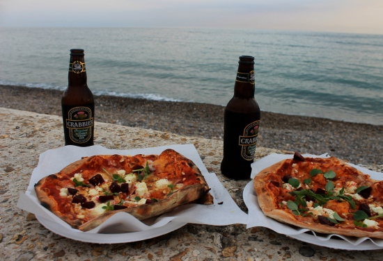 Pizza by the beach