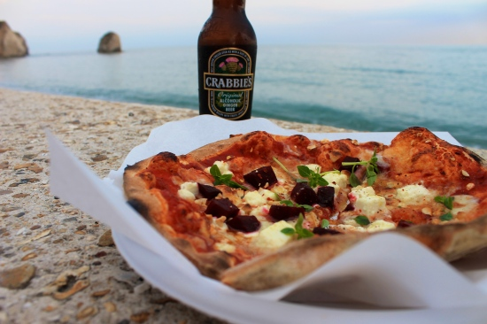 Pizza by the sea