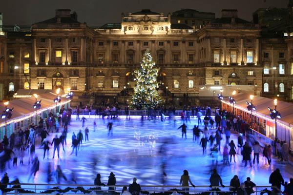 Ice Skating Christmas